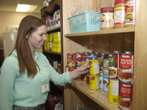 Kelsey in the Food Pantry