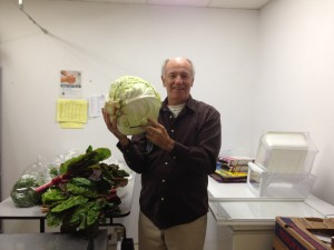 Rob with a big cabbage from a local farm
